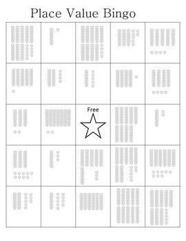 Place Value Bingo with Base Ten Blocks