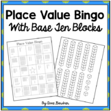 Bingo Place Value Game for Numbers through One Hundred featuring Base Ten Blocks