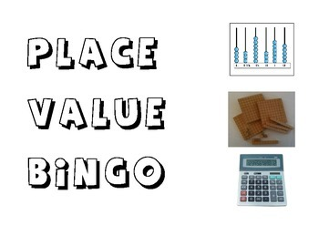 Place Value Bingo; ways to make a number