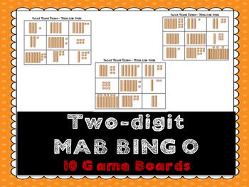 Place Value Bingo (with Base 10/MAB blocks)