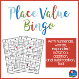 Place Value Math Bingo for 2nd and 3rd Grade