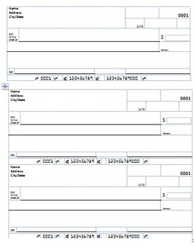 Place Value Blank Check (Editable!)