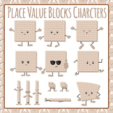 Place Value Block Characters Clip Art Set for Commercial Use