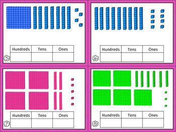 Place Value Block Task Cards