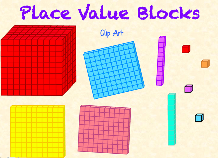 Place Value Blocks Base Ten Block Clip Art By Miss