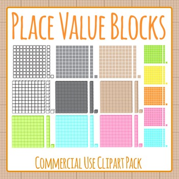 Place Value Blocks Clip Art for Commercial Use