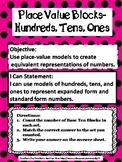 Teacher Made Math Center-Finding Expanded & Standard Form-