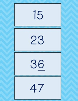 Place Value Blocks Memory Game