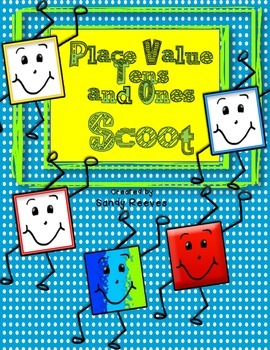 Place Value Blocks Scoot Using Tens and Ones Extra Free Game!
