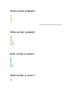 Place Value Blocks Worksheet