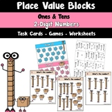 Place Value Blocks to the Tens Place Task Cards Games and Centers