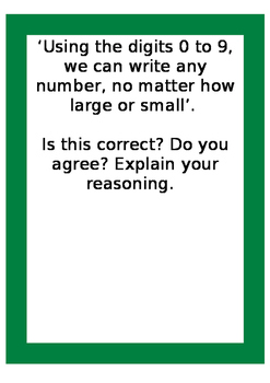 Place Value Blooms Taxonomy Qs
