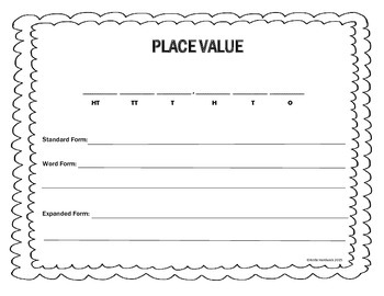 Place Value Acitivity Mat - Whole Numbers and Decimals