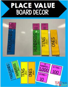 Place Value Board Decor Strips