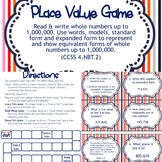 Place Value Board Game