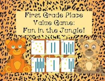 Place Value Board Game:  First Grade