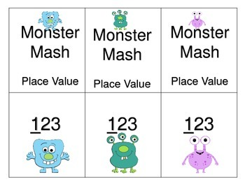Place Value Board Game---Monster Mash