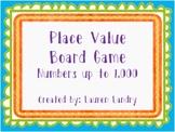 Place Value Board Game {Standard Form, Expanded Form, Base Ten Blocks}