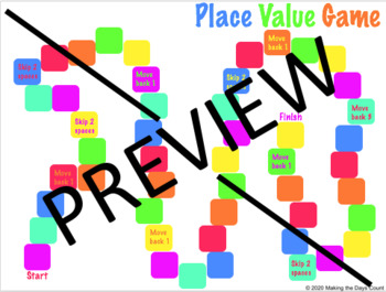 Place Value Board Game - Up to 1,000,000