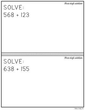 Place Value Boards {FREEBIE}