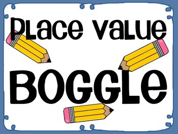 Place Value Boggle