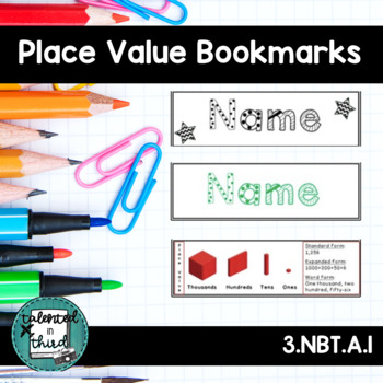 Place Value Bookmarks