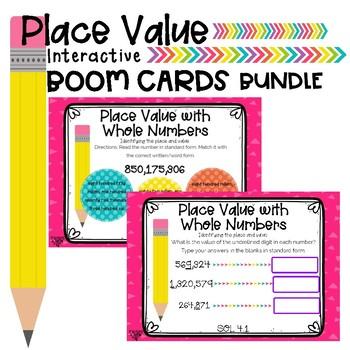 Place Value Boom Card Bundle (x2)