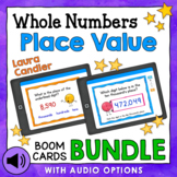 Place Value Boom Cards Bundle (with Audio Read-Aloud Options)