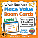 Place Value Boom Cards Level 1 (with Audio Read-Aloud Options)