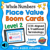 Place Value Boom Cards Level 2 (with Audio Read-Aloud Options)