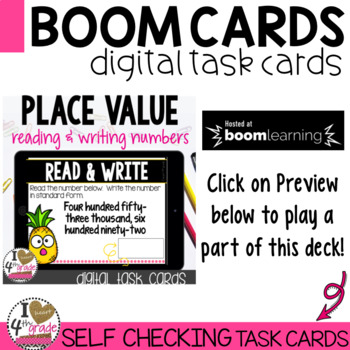 Place Value Boom Cards (read and write 6 digit numbers)