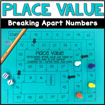 Place Value Breaking Down Numbers Board Game