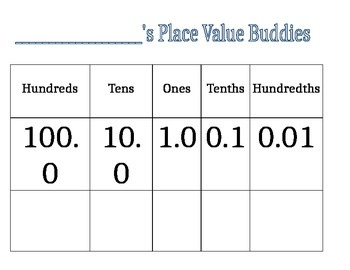 Place Value Buddies