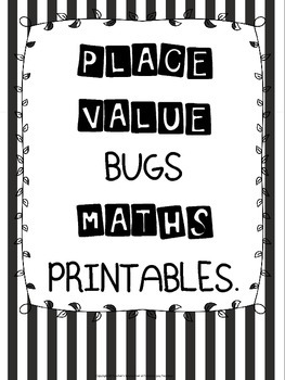 Place Value Bugs Maths Printables
