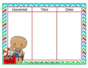 Place Value Build  Gingerbread Theme