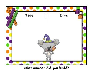 Place Value Build Halloween Koala 10-120