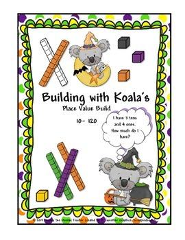 Place Value Build Halloween Koala 10-120