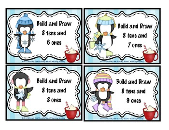 Place Value Build Illustrating  numbers 10-120 (Penguins)