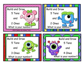 Place Value Build Number 10-120 (Little Monsters)