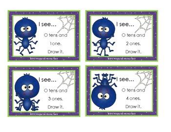 Place Value Build (Ten -One Hundred Twenty) Halloween /Spider Theme