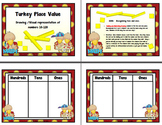 Place Value Build (Ten -One Hundred Twenty) Thanksgiving/Turkey