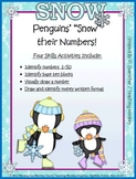 Place Value Build (Tens Only to 50) /Penguin /Winter Penqu