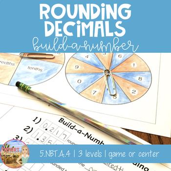 Rounding Decimals Build-a-Number Game 5th Grade CCSS