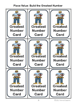 Place Value: Build the Greatest Expanded Form Number