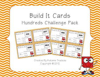 Place Value Building Cards Hundreds Challenge Pack