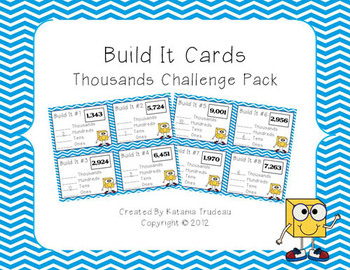 Place Value Building Cards Thousands Challenge Pack