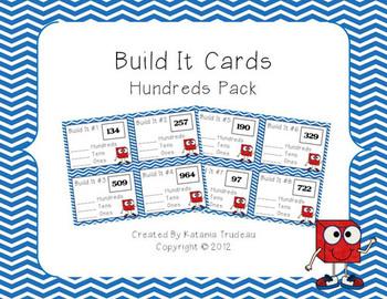 Place Value Building Cards Hundreds Place