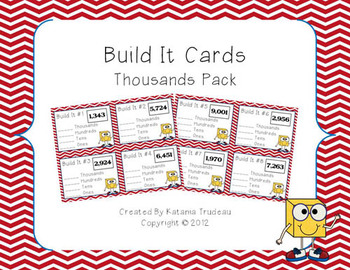 Place Value Building Cards Thousands Place