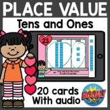 Place Value Building Tens and Ones Boom Cards | Distance Learning