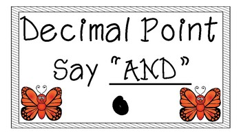Place Value Bulletin Board {Butterfly Theme}